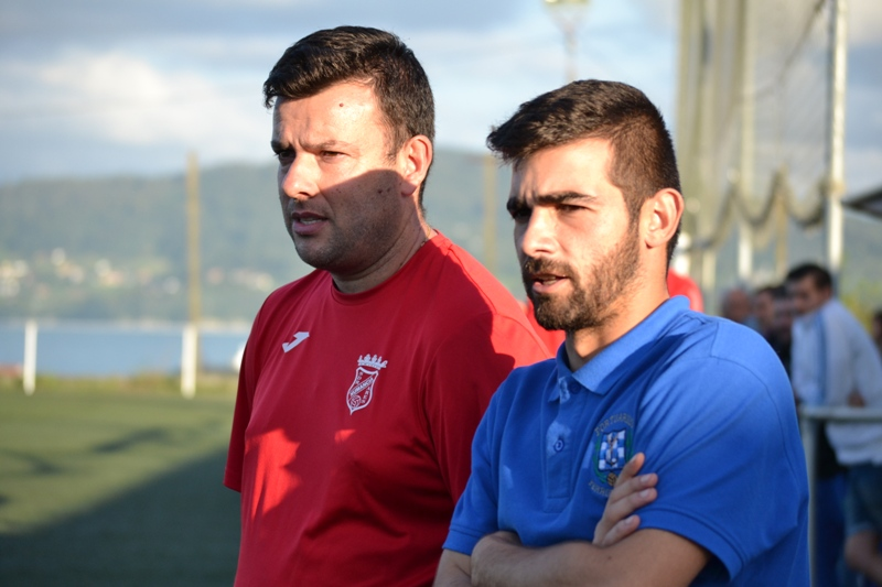 Adestradores Marcos (Numancia) e David (Portuarios B).