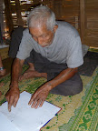 Grandpa's map is still being meticulously updated