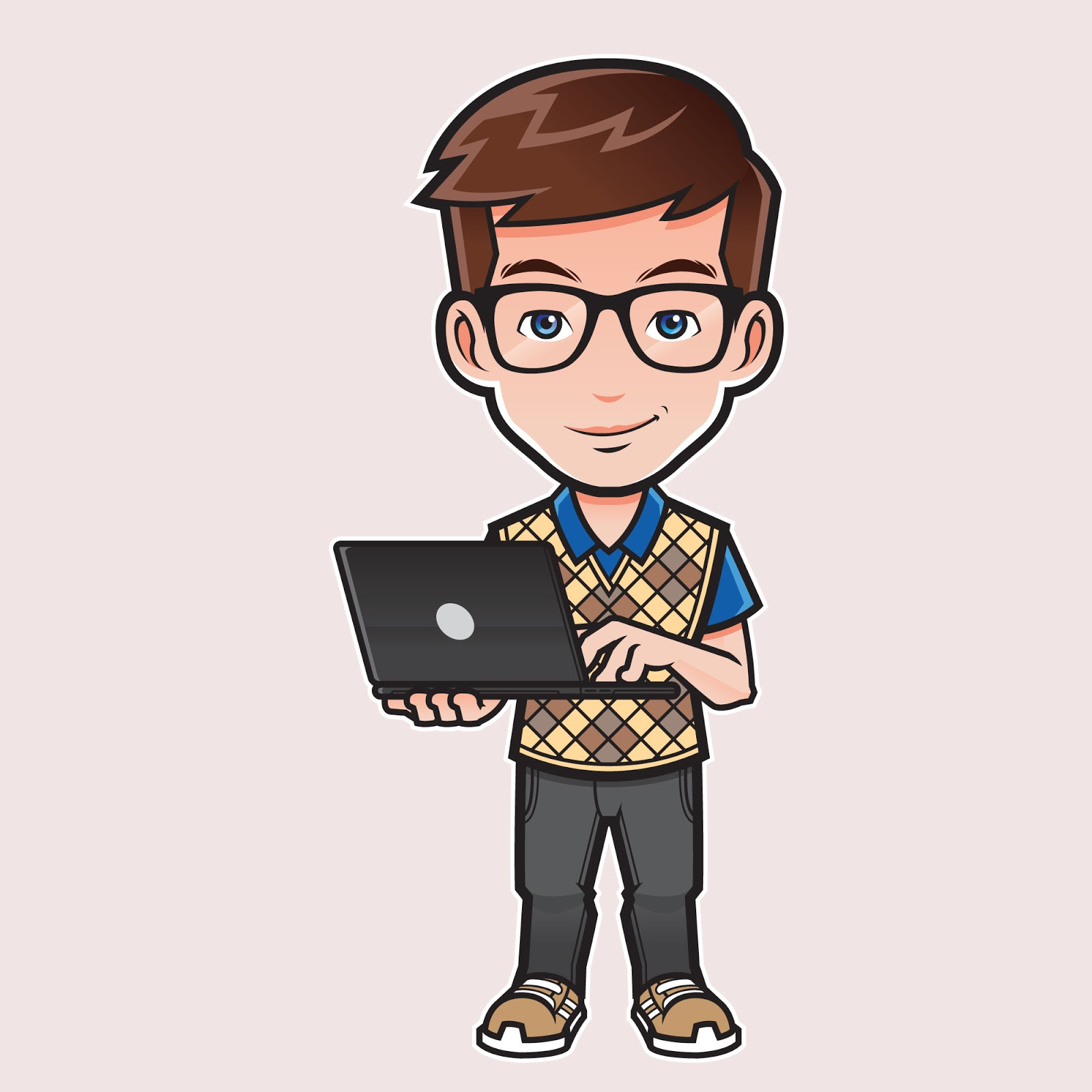 Computer Expert Illustration Free Download Vector CDR, AI, EPS and PNG Formats