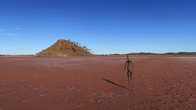 Figure in Lake Ballard