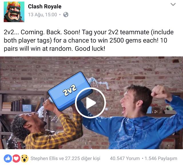 Clash Royale 2v2 Geri Dönüyor Ödüllü Etkinlik
