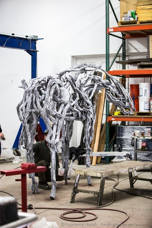 horse sculpture walla walla foundry  Deborah Butterfield