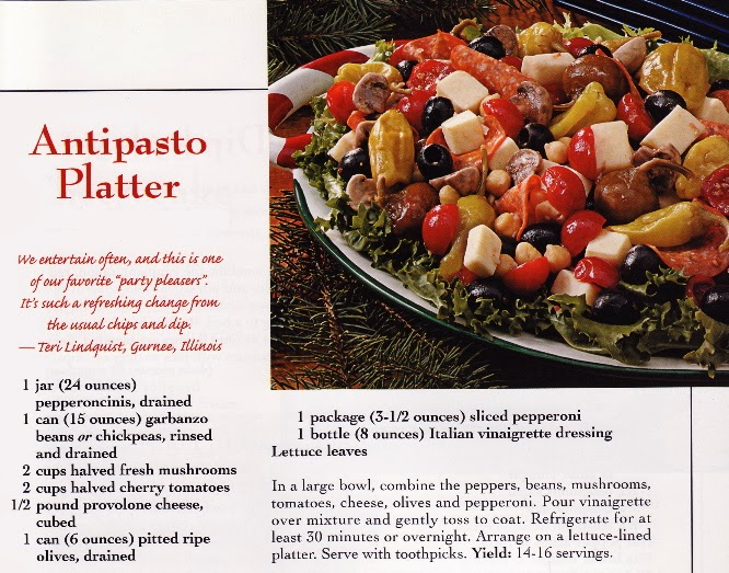 Antipasto Platter | Taste of Home Celebrations Cookbook 2002