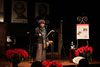 Teaching for Change fundraiser with poet and activist Sonia Sanchez at Busboys and Poets.<br /> Washington DC Dec. 10, 2007.<br /> © Rick Reinhard 2007