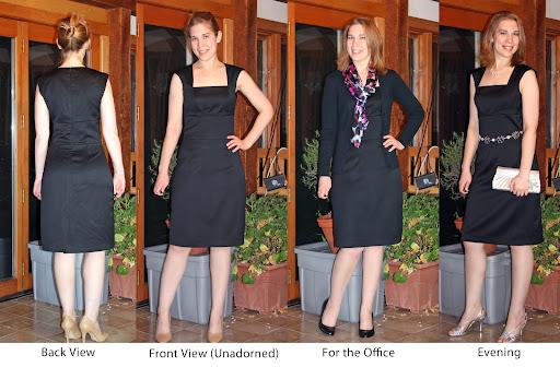 StyleArc Heather LBD (Wool sateen)