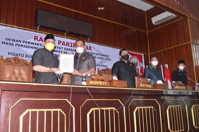 Pandemi, Rapat Paripurna DPRD Kotabaru Digelar Virtual