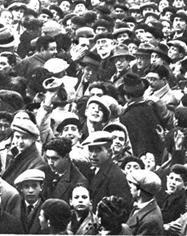 Recibimiento a Unamuno en Salamanca el 13 de febrero de 1930.