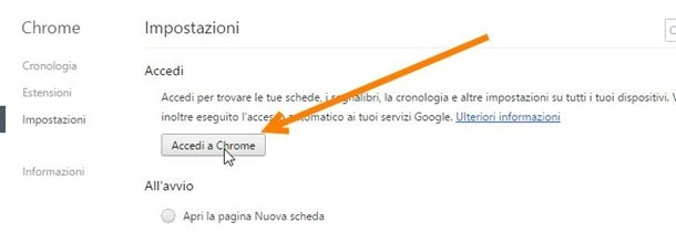 accedere-chrome