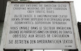 "Information sign at the border crossing ""Checkpoint Charlie"" (© 2010 Bernd Neeser)"