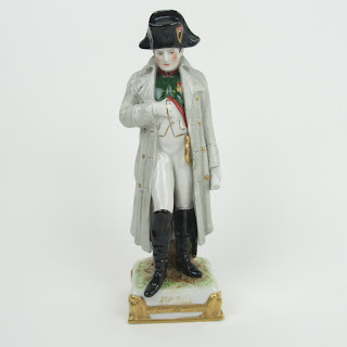 French Porcelain Hand-Painted Napoleon Figurine