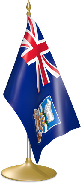 Falkland Island  table flags - desk flags