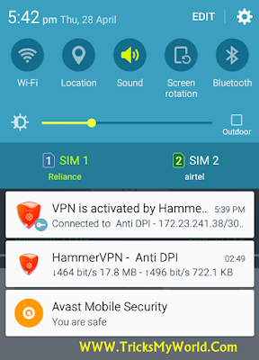 Working Airtel Free 3G Internet Trick For Android with HammerVPN 2016