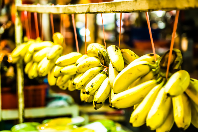 アロー通り 屋台街 バナナ