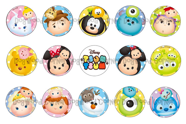 Tsum Tsum Bottle Cap Image Sheets Party Favors By Dogwoodcorner Download  Image Coloring Pages Disney