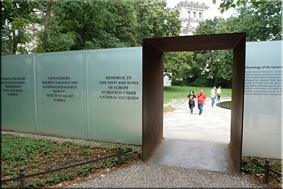 Monumento a víctimas romaníes y sinti asesinadas por los nazis