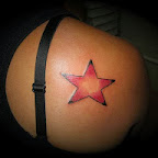 red stars - Shoulder Blade Tattoos Designs