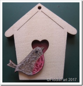 Bird and bird box embellishments