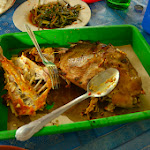 Grillowana Jebong czyli (po polsku) Abalistes - ryba z gatunku rogatnicowatych. Wcześniej rogatnicowate widzieliśmy tylko wśród koralowców na Seszelach.
