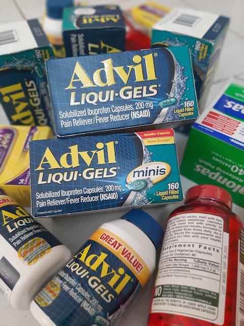 (Thành phần có trong Advil Liqui Gels 200mg hộp 200 viên của Mỹ - Ảnh được chụp thực tế tại Hàng Ngoại Nhập Store)
