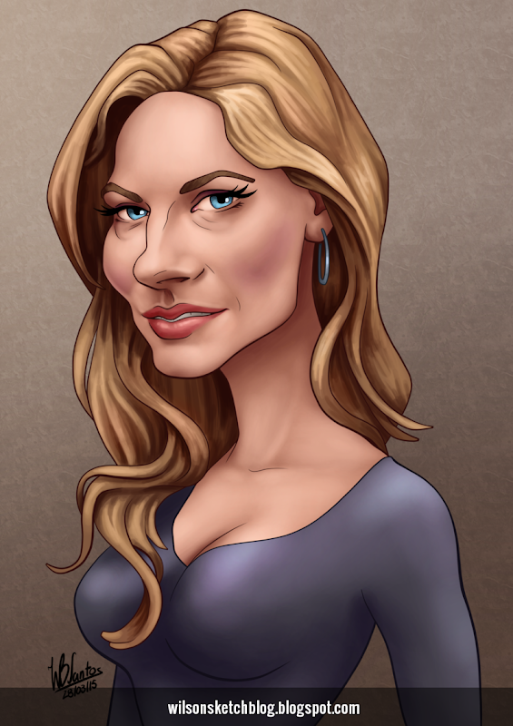 Caricature of Katheryn Winnick.