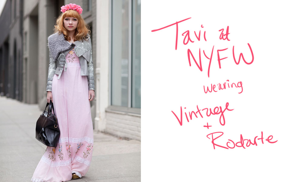 Wearing Vintage [Tavi Gevinson aka Style Rookie NYFW 2020]
