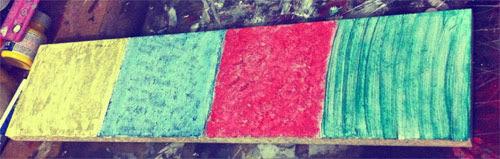 DIY - quadro com prendedores coloridos