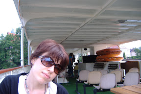 On the tour boat in Wroclaw