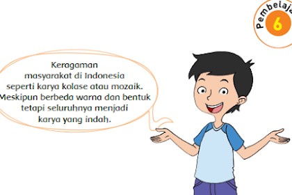 Kunci Jawaban Buku Kelas 4 SD Tema 7 Subtema 3 Pembelajaran 6
