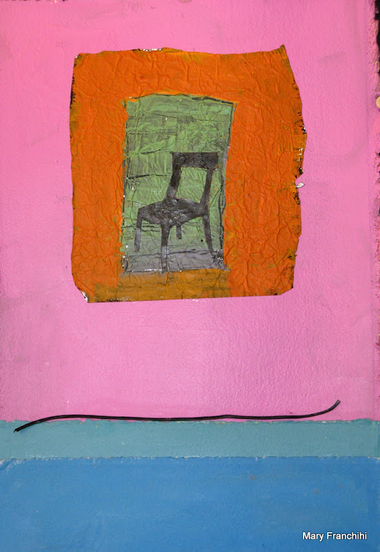"""""""Many Color Chair"""" Foil/Painted Paper/Found Object"""