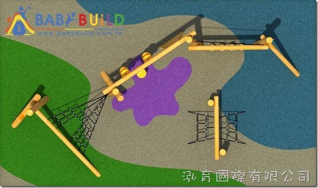 BabyBuild木製體能遊戲設施