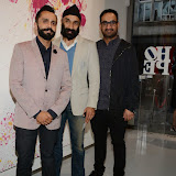 OIC - ENTSIMAGES.COM - Randir Singh, Mandeep Singh Kohil and Sandeep Singh Lamba at the Omar Hassan - Breaking Through, Private View at ContiniArtUK in London 23rd April 2015 Photo Mobis Photos/OIC 0203 174 1069