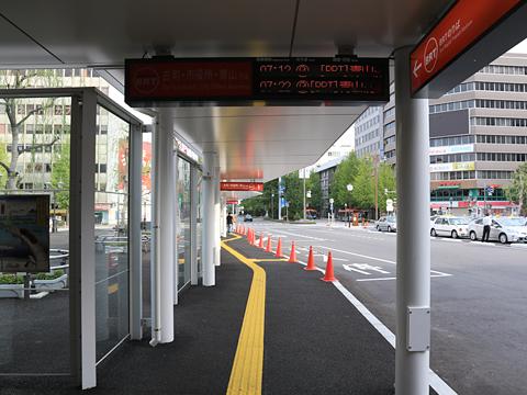 新潟駅前 萬代線BRTのりば その1