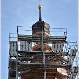Oprava věže kostela v Třebnicích 11.12.2014