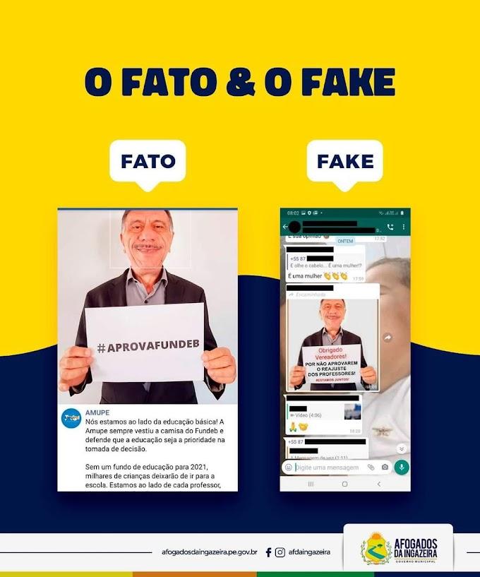 Afogados: Prefeito José Patriota é alvo de fake news