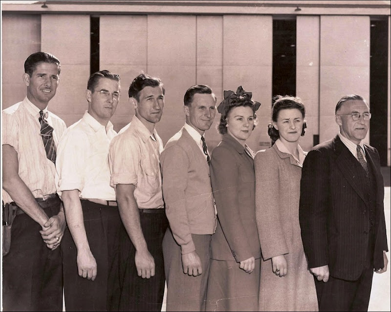 FINK Family & Floyd BROWN_in photo when they all worked at General Dynamics_circa 1940s_San Diego CA_enh
