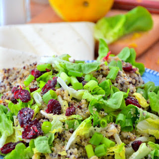 Cranberry Quinoa Salad with Dairy-Free Caesar Dressing.