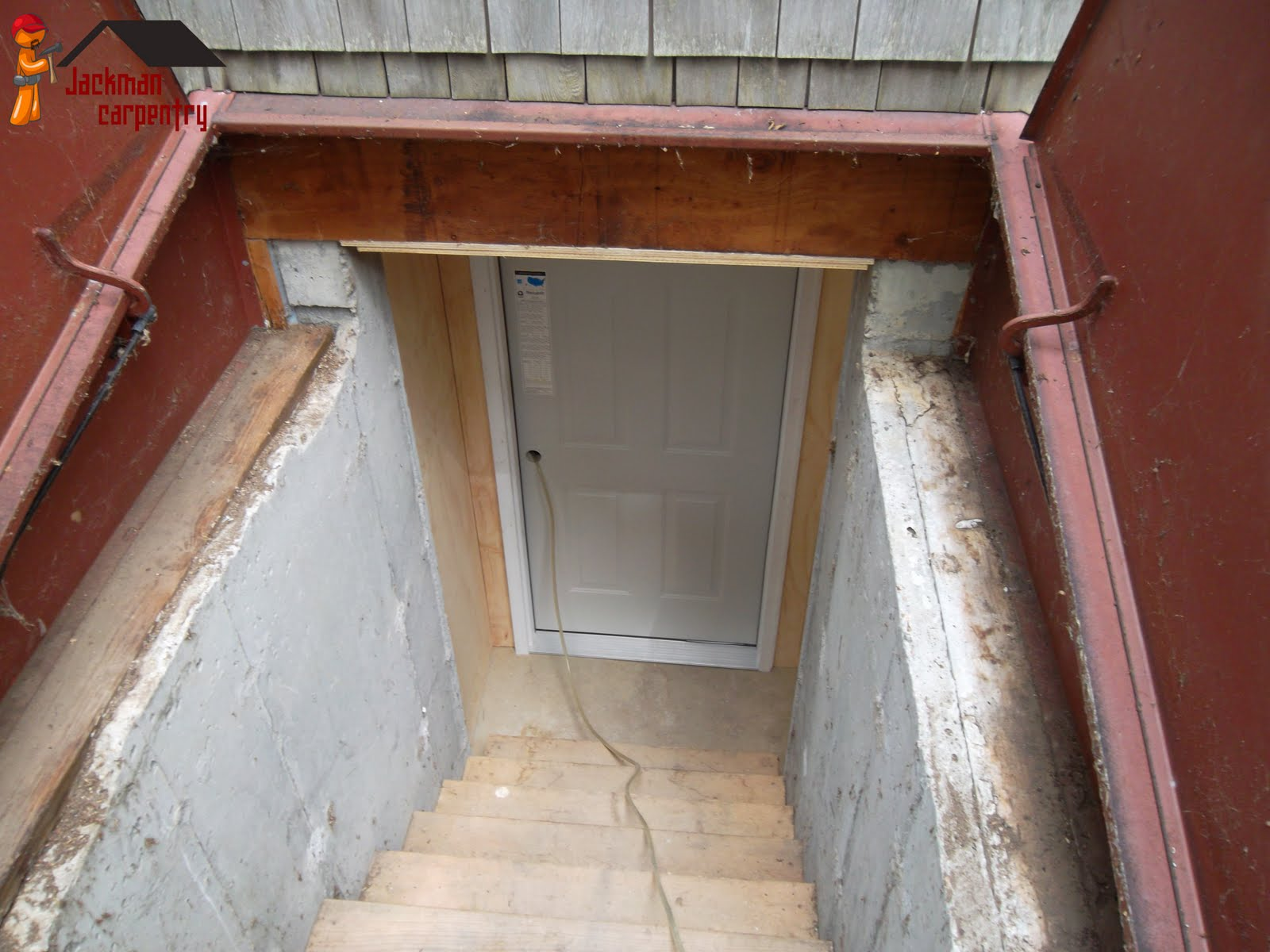 Basement cellar doors for Basement entry
