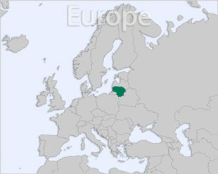 Lithuania location map