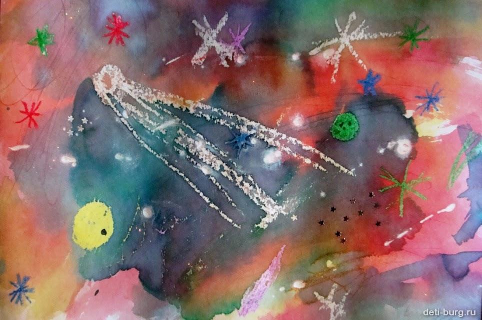 рисуем космос