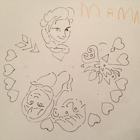Elsa und Anna Mandala für die Mama