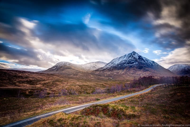 mountains road scotland highlands glencoe clouds - scaled