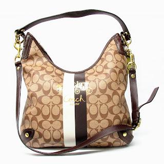 Coach Monogrammed Shoulder Bag
