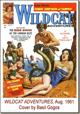 WILDCAT ADVENTURES, August 1961, cover by Basil Gogos