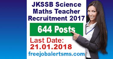JKSSB Science Maths Teacher