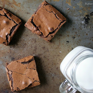 Ooey Gooey Kit Kat Caramel Brownies