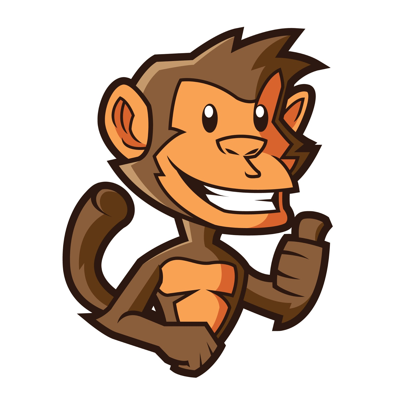 Monkey Mascot Logo Free Download Vector CDR, AI, EPS and PNG Formats