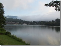 Lake Junaluska on cloudy morning
