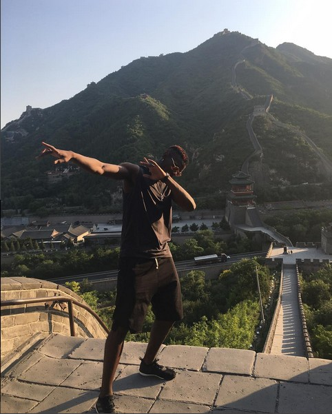 Paul Pogba Dabs On The Great Wall Of China