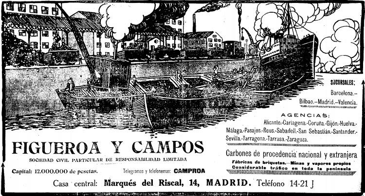 Anuncio de la empresa Figueroa y Campos. Diario El Sol. Edicion del 1 de diciembre de 1919.bmp