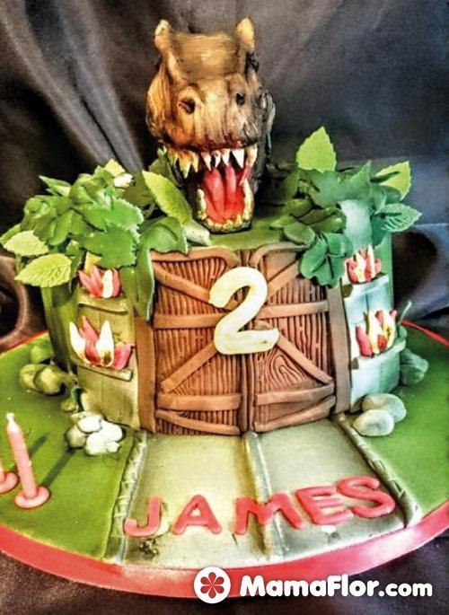 pastel de dinosaurios - 11